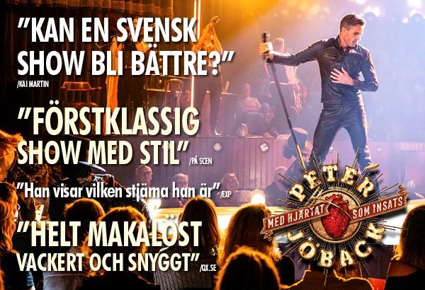 Hjärtat som insats i popteater med Peter Jöback